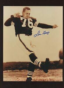 "Lou Groza Cleveland Browns Autographed 8"" X 10"" Photo Hologram"