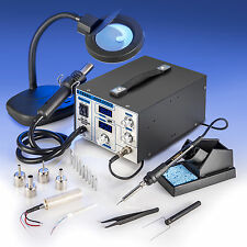 X-Tronic Model #4040 ESD Safe Soldering Iron & Hot Air Station Complete Kit