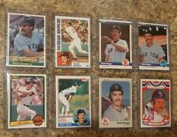 (8) Wade Boggs 1983 1984 Topps Fleer Donruss Rookie 2nd Card Lot RC Red Sox DK