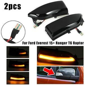 2x For Ford Everest 15+ Ranger T6 Raptor Wildtrak LED Dynamic Side Mirror Light