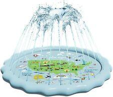"New listing Sprinkler for Kids Splash Pad, Outdoor Sprinkler Water Toys, Wading Pool 60"" New"
