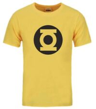 Green Lantern Marvel DC Superhero gym T-Shirt Yellow