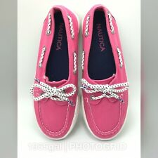 Nautica NWT Girl's Pink Canvas Boat Shoes Howland Size 1