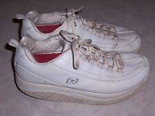 SKECHERS Shape Ups 76428 White Leather Womens Toning Walking Shoes Sz 7.5M