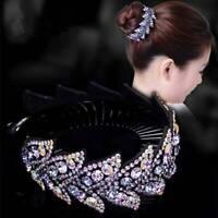 Women Girls Hair Clip Crystal Claw Ponytail Bun Holder Hair Comb Hairpin Fashion