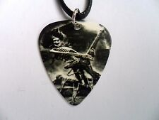 Skull // Skeleton Guitar Player  Guitar Pick  Leather  Necklace  IRON MAIDEN