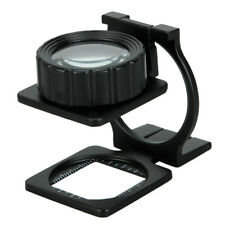Portable 20X 28mm Foldable Magnifier Stand Magnifying Glass Loupe Measure Scale