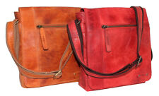 Dargelis Leder Tasche Schultertasche Handtasche Bag Überschlag Damen Herren