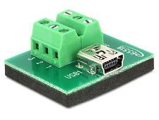 Delock Adapter Mini USB Buchse Terminalblock 6 Pin (65518)