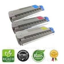 Remanufactured toner cartridges for OKI Pro7411WT Cyan, Magenta, Yellow