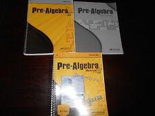 A Beka  Pre-Algebra teacher set homeschooling 8th grade lot of 3 Math Arithmetic