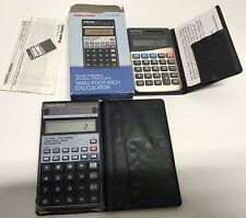 Vintage RadioShack Calculator W/ Case Ec-317 Fraction Decimal Plus Other