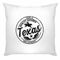 Hometown Pride Cushion Cover Made in Texas Stamp Novelty Logo Slogan Design