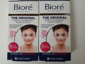 (2 Pack) Biore the Original Deep Cleansing Pore Strips 8 Nose Strips