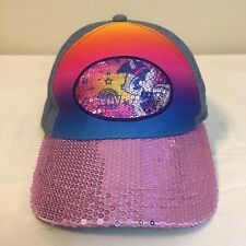 My Little Pony Girls Youth Hat Cap Blue w Purple Sequins Strapback Free Shipping