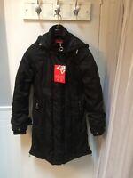 OPPENHEIMER New Black Womens Winter Parka Jacket w Detachable Hood - Size Small