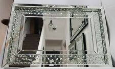Floating Crystal Large Sparkly  Silver Wall Mirror 60X90cm