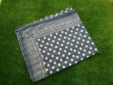 Hand Made Kantha Beddings Polka Dot Print King Size Bed Sheets Bohemian