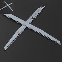 2PC 5TPI 240mm BI-Metal Reciprocating Saw Blade Flexible For Metal & Wood Cutter