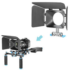 Neewer Matte Box for 15mm Rail Rod Suppot Follow Focus Rig System for Canon