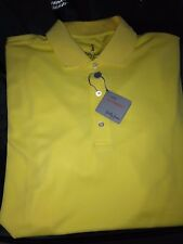 Nwt $75 Bobby Jones Bright Solar Yellow H20 Polyester Golf Polo Shirt M Medium