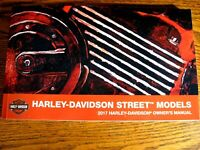 2017 Harley-Davidson Street XG500 XG750 Owner's Owners Manual NEW
