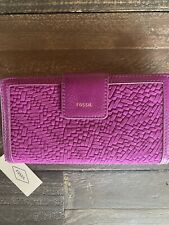 New with Tags, Fossil Logan RFID Tab Wallet in Purple