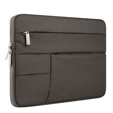 "15.6"" Charcoal Black Laptop Macbook Case Sleeve Shell Pockets Chromebook"