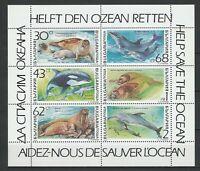 Bulgaria 1991 Fauna Animals Marine Life 6 MNH stamps