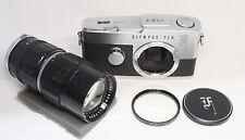 OLYMPUS PEN F Film Camera Body w/ Zuiko Auto Zoom 50-90mm F/3.5 Lens