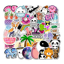 50pcs VSCO Girls Stickers Skateboard Vinyl Laptop Luggage Decals Random Graphics