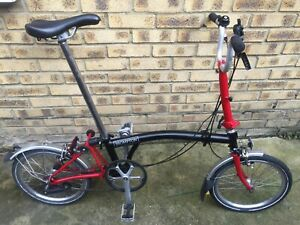 Brompton Red and Blk M3L 2016, very good condition. Global shipping.