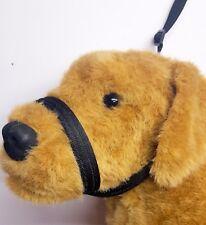 Figure of eight Airweb cushion  dog halter headcollar & Lead in one Black