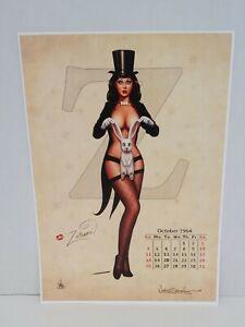 Nathan Szerdy SIGNED Zatanna Calendar Comic Art Print Pin-Up Justice League JLA