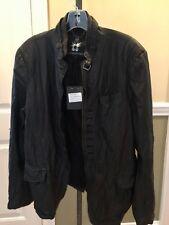 BNWT Bolongaro Trevor mens black leather jacket All Saints $300 retail sz 44