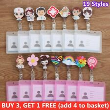Clip Business Work Card Badge Holders with Retractable Reel ID Badge Holder