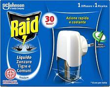 Raid Liquido zanzare & zanzare tigre 1 diffusore + 1 ricarica 21 ml