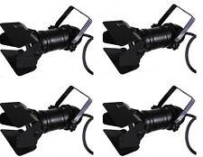 4 X Par 16 Negro Spotlight Inc puerta de granero birdie Iluminación 240v ventana de visualización