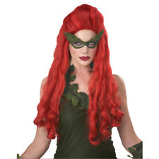 Lethal Beauty Wig Poison Ivy Sexy Batman Villain Mother Nature Red Adult Costume