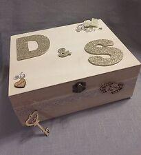 🎀Personalised Luxury Wedding Wooden Memory/Keepsake Box Gift 👰
