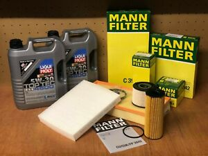 VW01 VW TOUAREG 3.0TDI V6 AIR FUEL POLLEN OIL FILTER MANN +10 L OIL SERVICE KIT