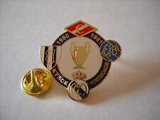 a1 SPARTAK MOSCOW JEUNESSE D ESCH REAL MADRID ESBJERG league 1981 football pins