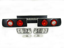 DEPO CARBON LOOK TAIL LIGHTS+CLEAR BUMPER+SIDE MARKER FOR 1990-1996 NISSAN 300ZX