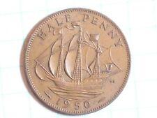 Coin Great Britain Half Penny 1950 Georgivs Vi xf D: G: Br: Omn: Rex F: D: Ind