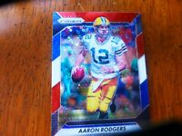 2016 PRIZM GREEN BAY PACKERS AARON RODGERS RED WHITE BLUE DISCO PRIZM REFRACTOR