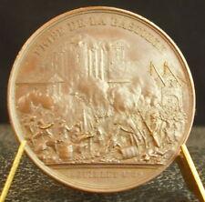 Médaille Prise de la Bastille 1789 Donjon de Vincennes par Rogat 1844 Medal 铜牌