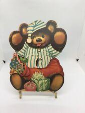 Vintage Die Cut Teddy Bear Christmas Decoration Marked Charlot Byi