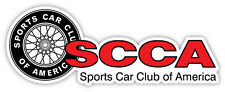 "SCCA Sports Car Club of America sticker decal 6"" x 2"""