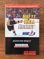 Brett Hull Hockey SNES Super Nintendo Instruction Manual Only