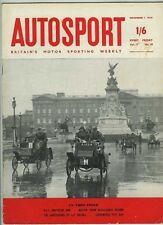 Autosport November 7th 1958 *Mike Hawthorn Presentations*